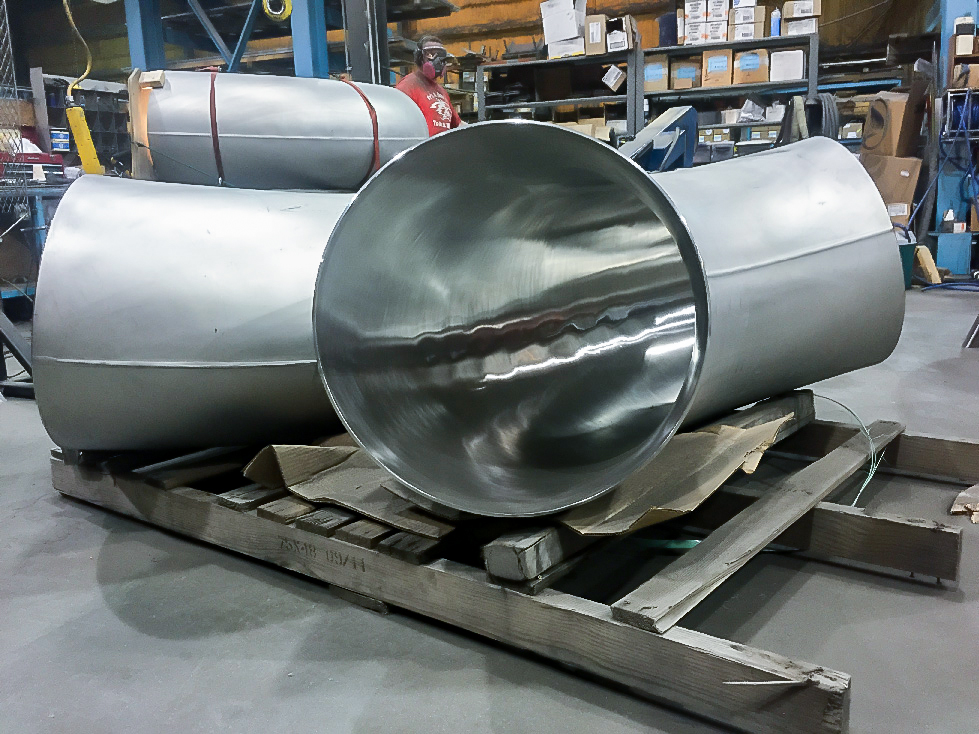 Angled Stainless Steel Pipe and Tube ID and OD Polishing Services