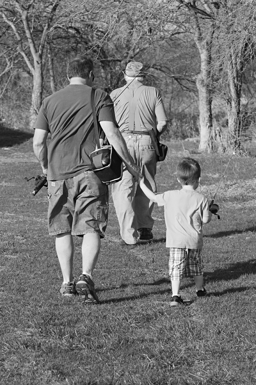 There's a special bond that happens when you go fishing with a parent or grandparent. I have treasured memories of going fishing with my dad an my grandfather. This series is a documentary of my grandson's first fishing trip with my husband and my father. Unfortunately no fish were caught that day, but everyone had a good time.