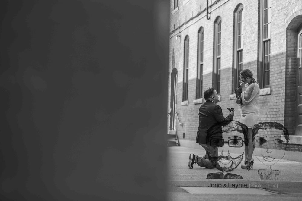 Sometimes we find ourselves smack dab in the middle of extremely personal moments. Like this proposal. Justin contacted us to photograph him popping the question, and we said YES.