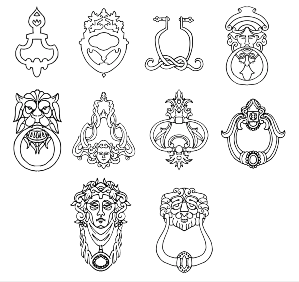 Designs for doorknockers