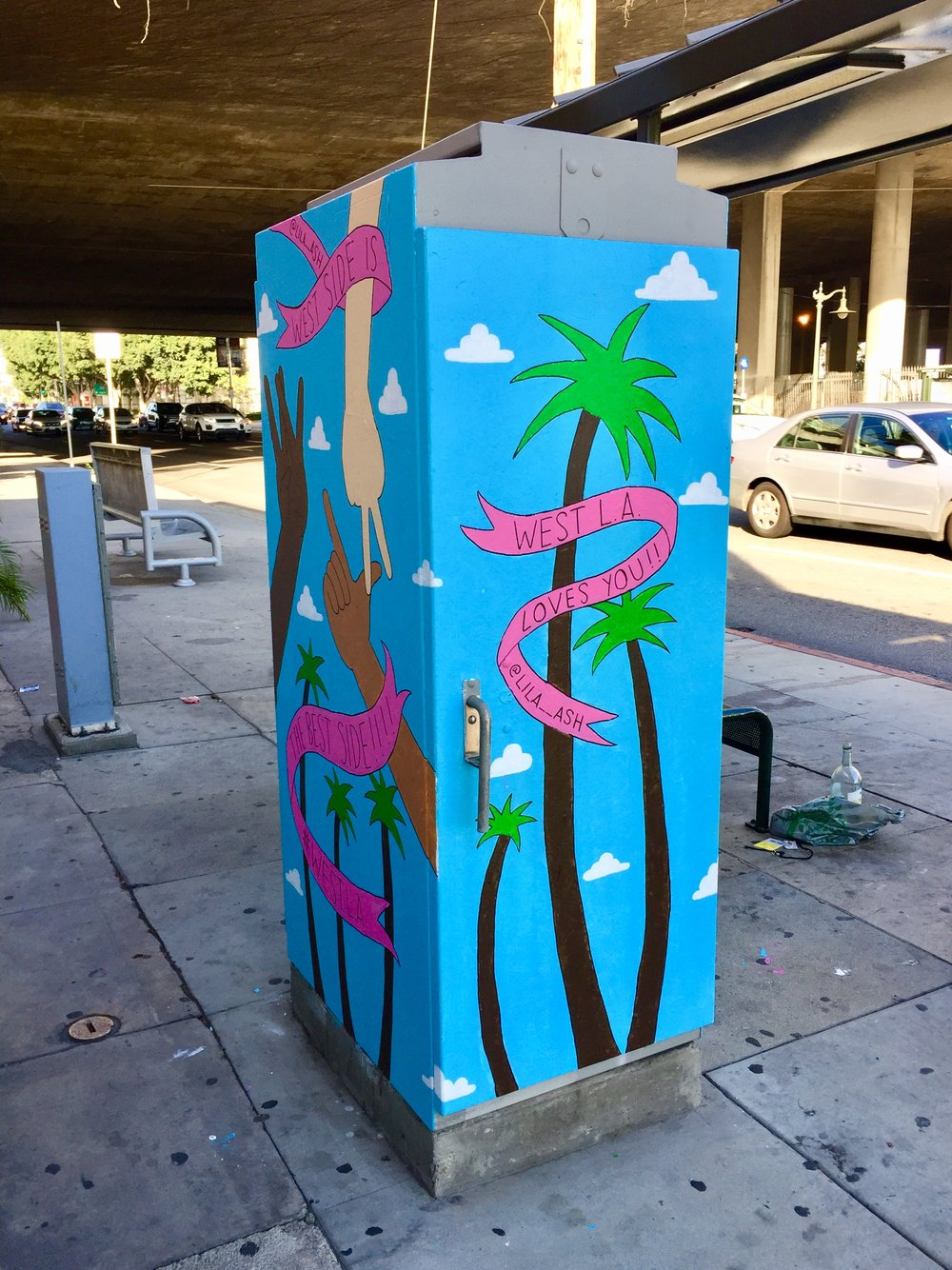 Utility box mural for the city of Los Angeles