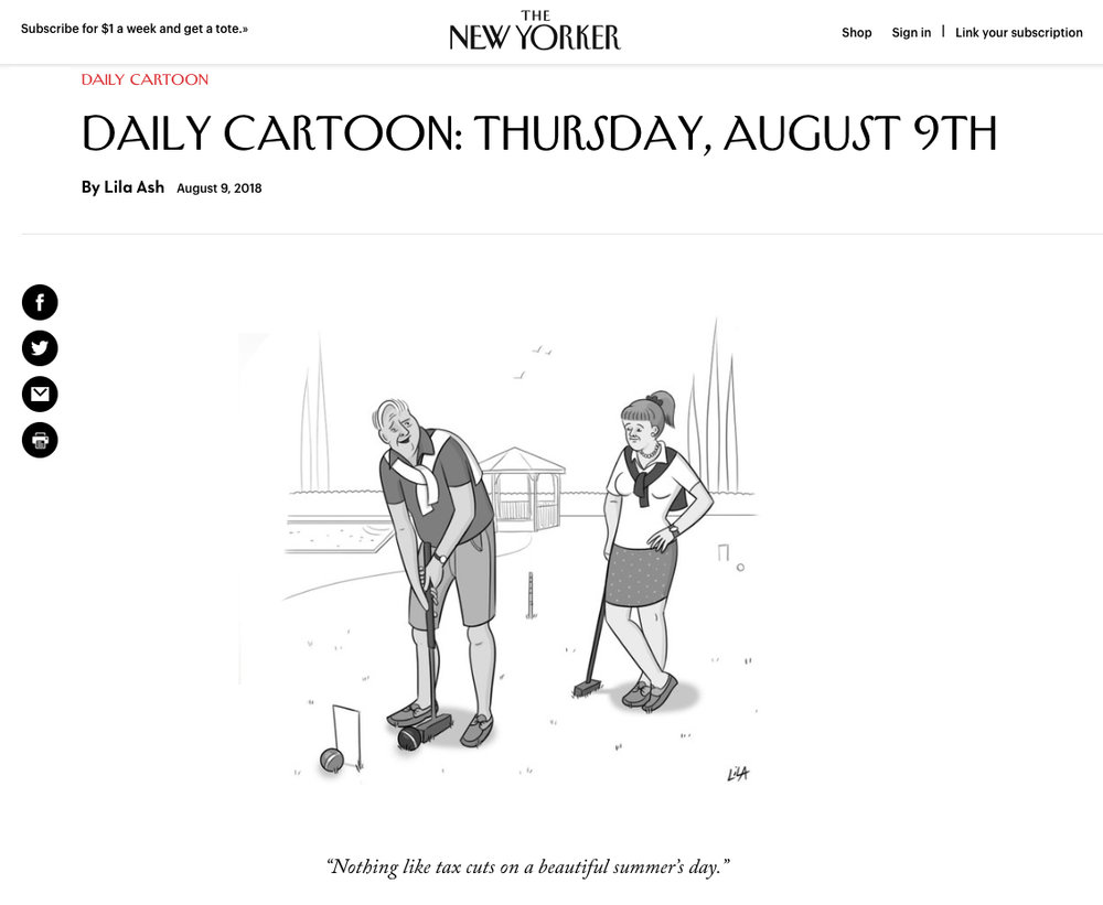 My first-ever published New Yorker cartoon!
