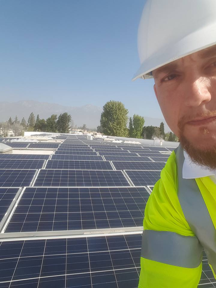 Rooftop Solar Farm near Bakersfield, California