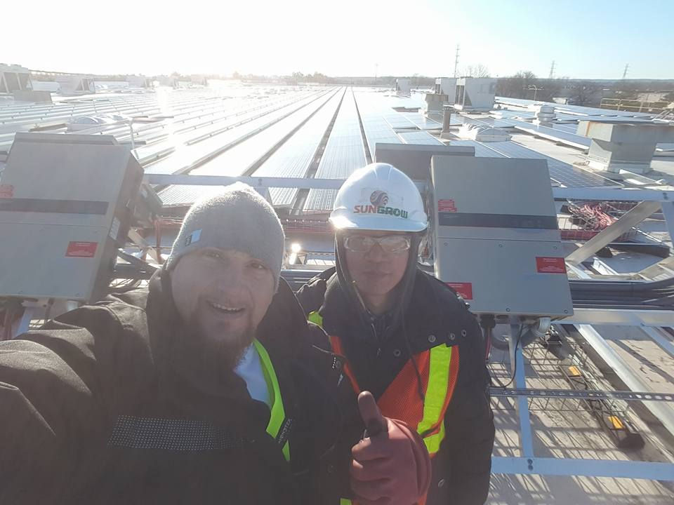 Rooftop solar farm in Minneapolis, Minnesota