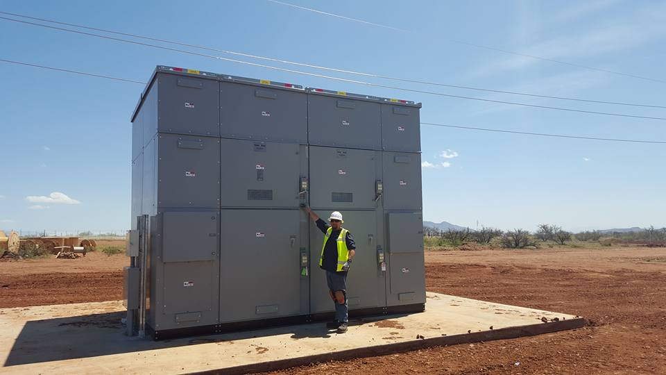 Solar Power Inverter near Wilcox, Arizona