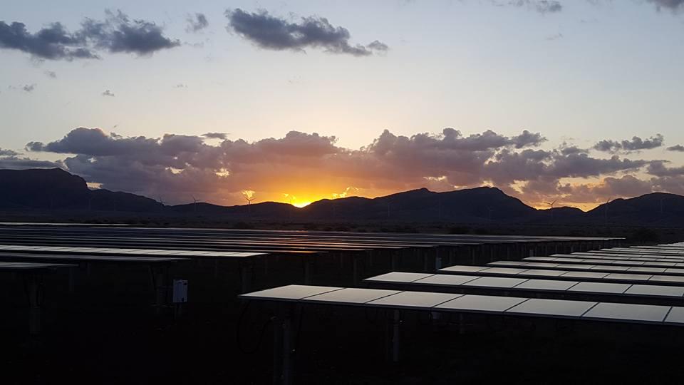 Ground mount solar farm near wilcox, arizona