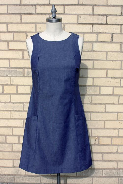 Little Blue Dress With Side Pocket — Leche Libre