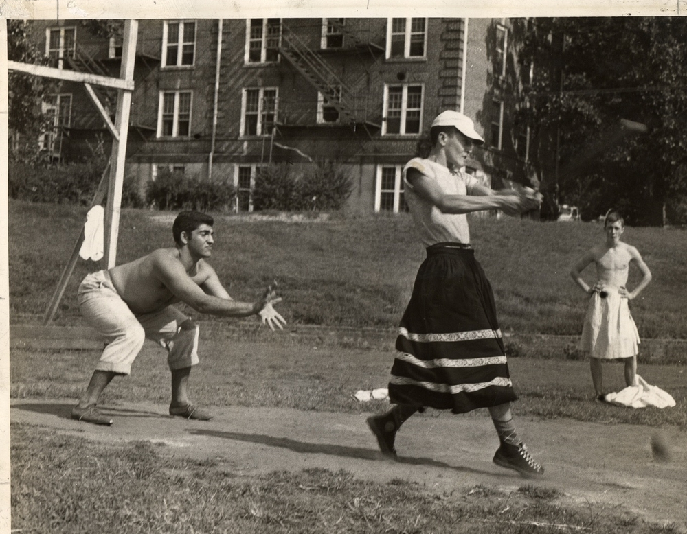 Softball game at Lynchburg College ca. 1950