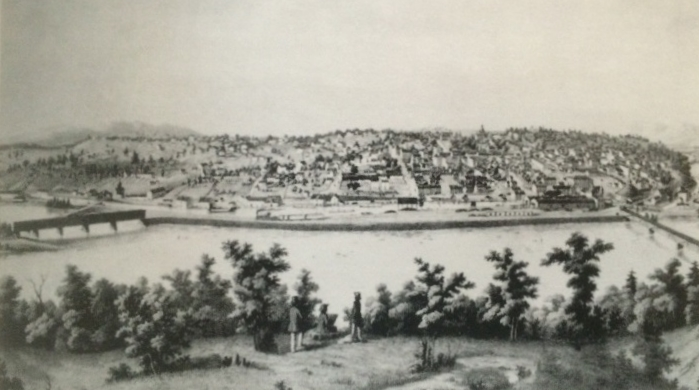 View of Lynchburg 1855 by Edward Beyer