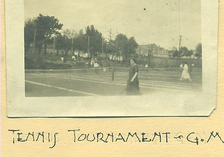 A tennis tournament at Guggenheimer-Milliken in 1922.