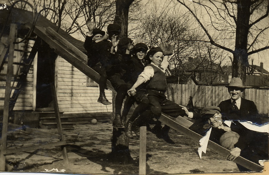 Children playing at the Guggenheimer-Milliken Playground, 1917.