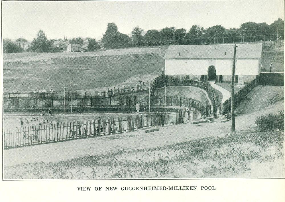 The Guggenheimer-Milliken Pool when it opened in 1927.