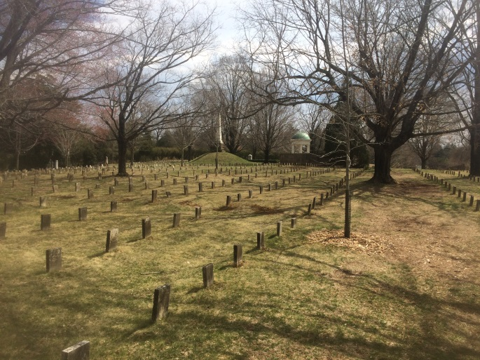 A portion of the Confederate Section at Old City Cemetery