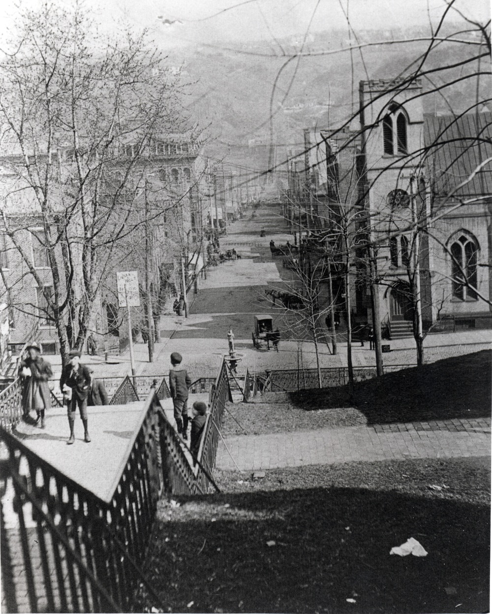 Looking Down 9th Street, pre-1926