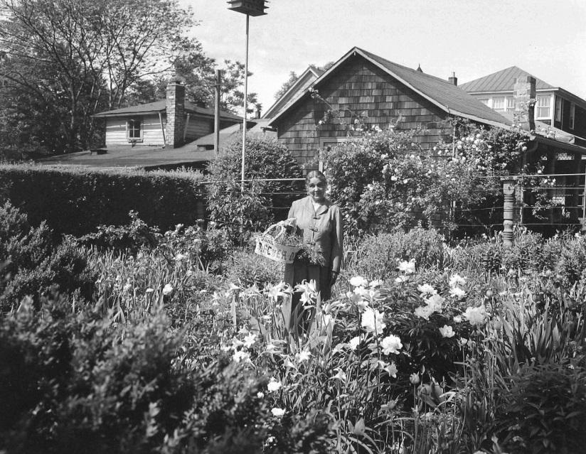 Anne in her garden