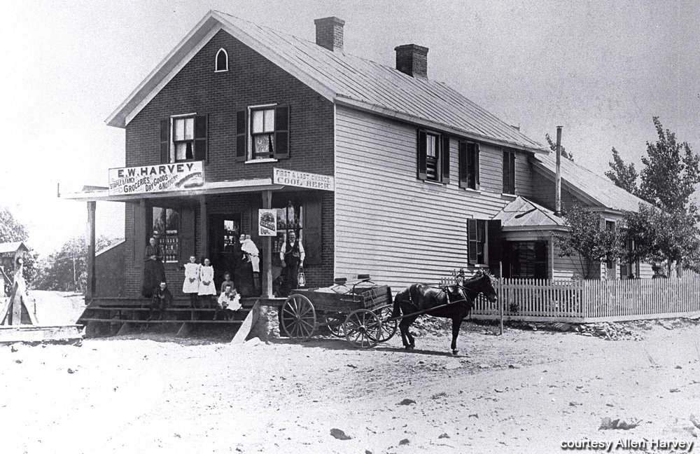 E. W. Harvey's Store, ca. 1899, corner of Fort Avenue & Wards Road