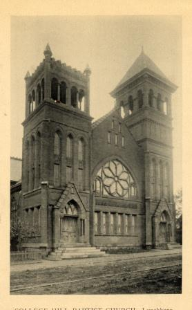 College Hill Baptist Church, 1903