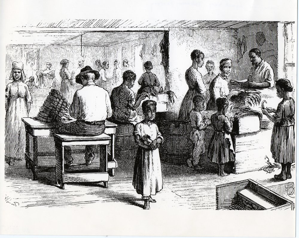 """Old Market Tobacco Scene"", c. 1878. From the Lynchburg Museum System"