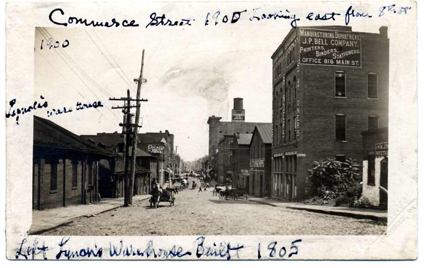 Commerce Street in Lynchburg, circa 1900. From the Lynchburg Museum System