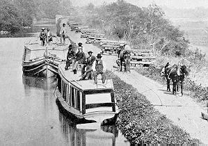 packet boats on canal
