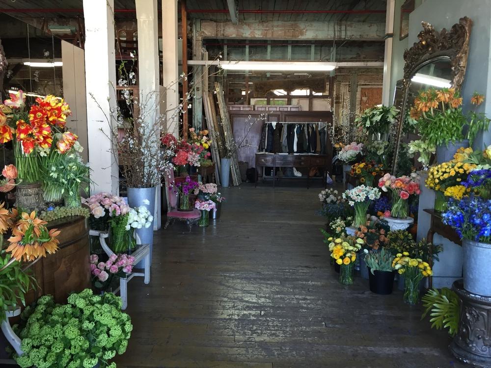 Hallway of flowers at the Metropolitan Building, Little Flower School Dutch Masters Class