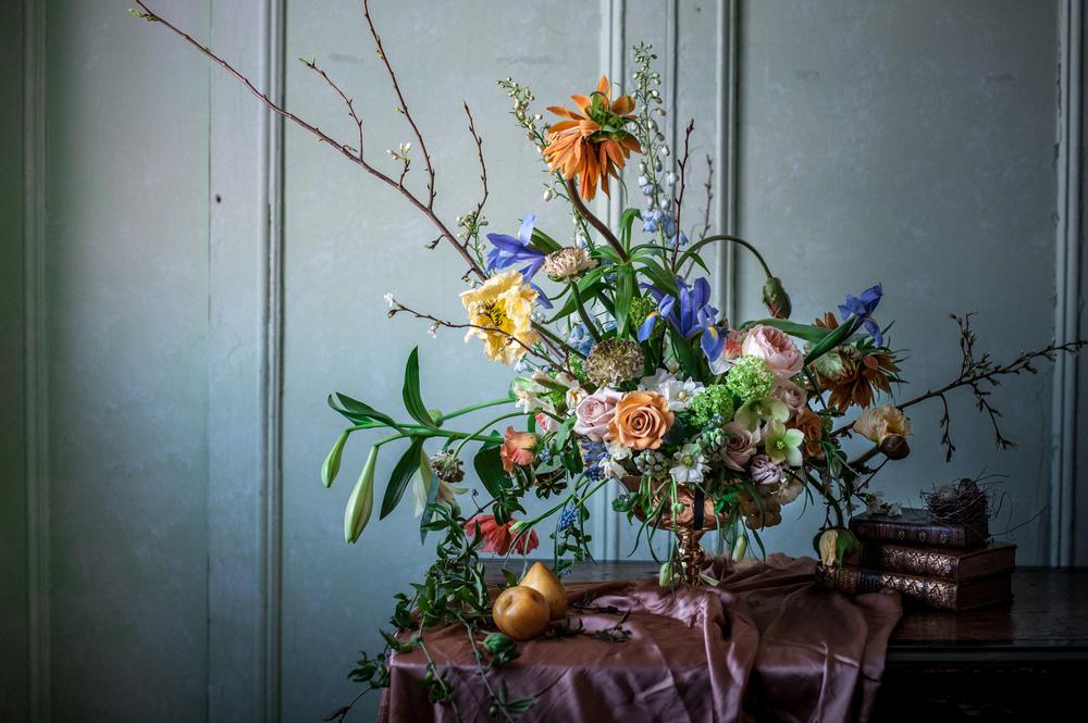 Jess Kwong's flower arrangement from Little Flower School, ph.  Holly Carlisle