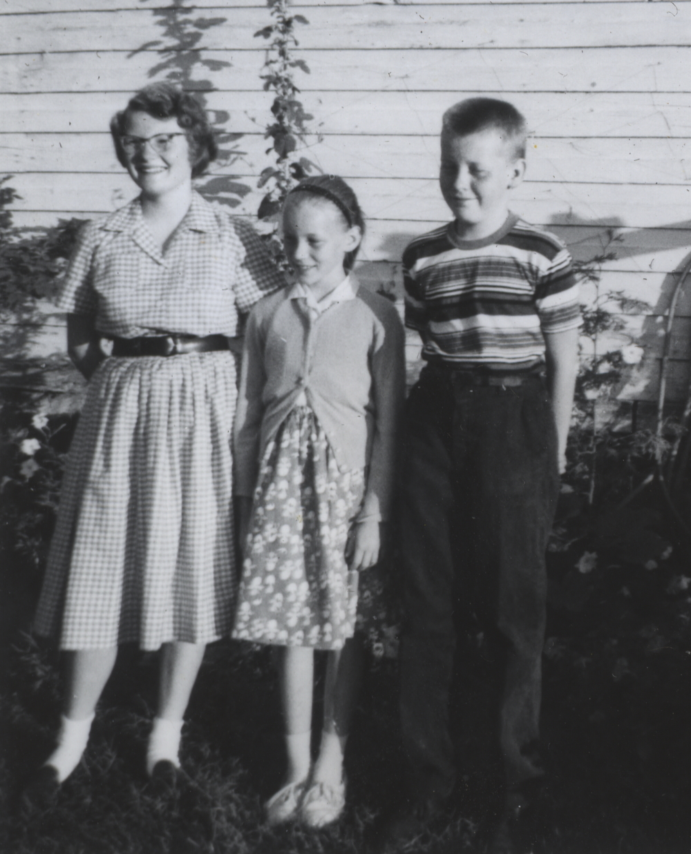 Liz with her mother and brother in 1960. Photo: Courtesy Liz Riley