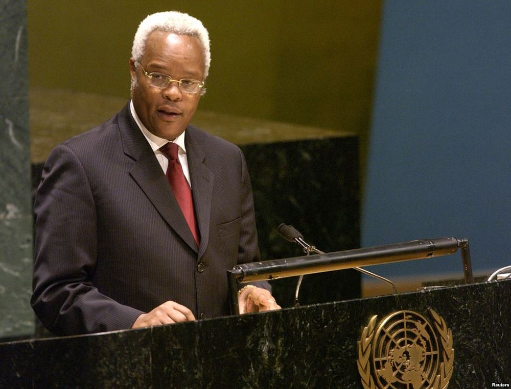 Edward Lowassa, candidate for Ukawa, the coalition of opposition parties, addressing the U.N. General Assembly in 2006. Photo: Reuters
