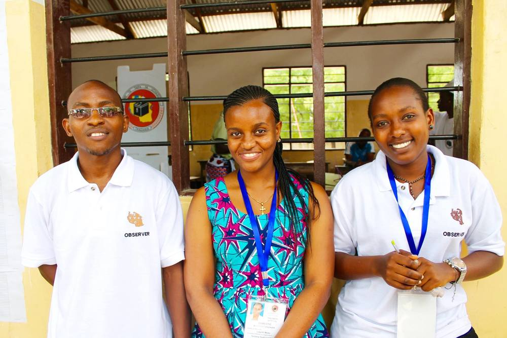 Tanzania Youth Coalition trained young men and women to be election observers. Photo: Courtesy Tanzania Youth Coalition.