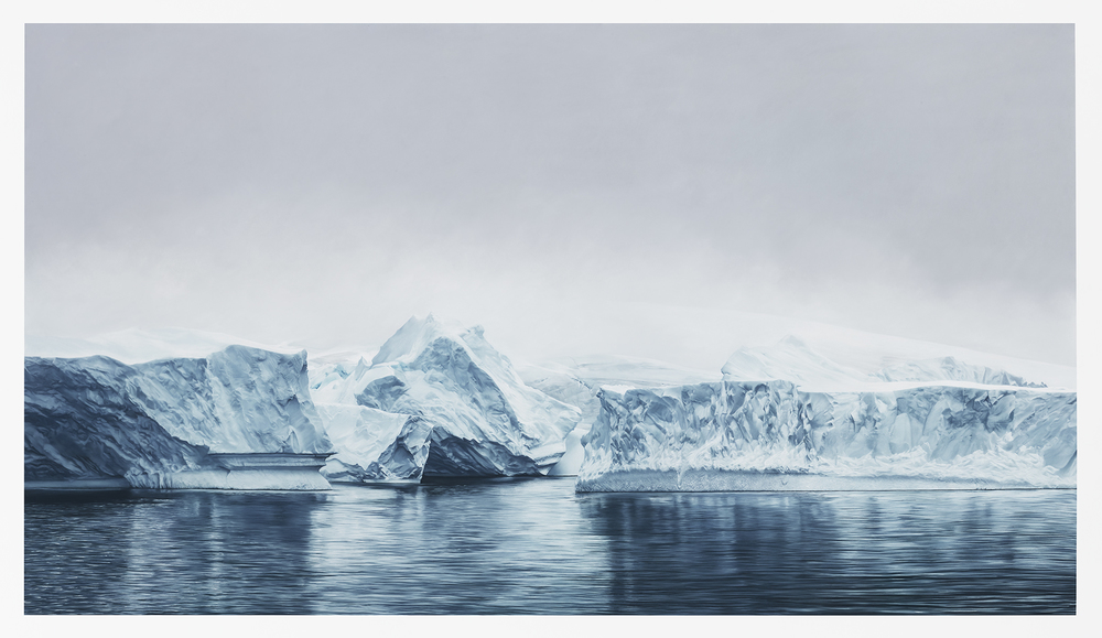 """DECEPTION ISLAND, ANTARCTICA"", 72"" x 128"", SOFT PASTEL ON PAPER, 2015"