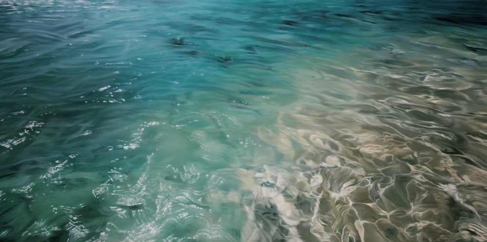 MALDIVES NO.3, 30 X 60 INCHES, SOFT PASTEL ON PAPER, 2013