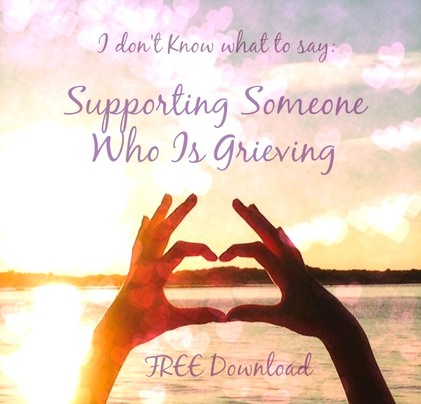 FREE Download! Marlene Lee, in collaboration with families who have lost loved ones, offer words and insight for those looking to comfort and support someone who is grieving.