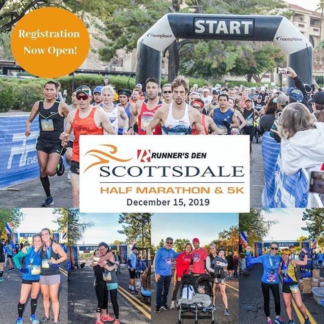 We are excited to announce that registration is now open for The Scottsdale Half Marathon & 5k on December 15th, 2019! Secure your spot on this fast, fun course today, and take advantage of the early bird prices. #scottsdalehalfmarathon #scottsdale5k