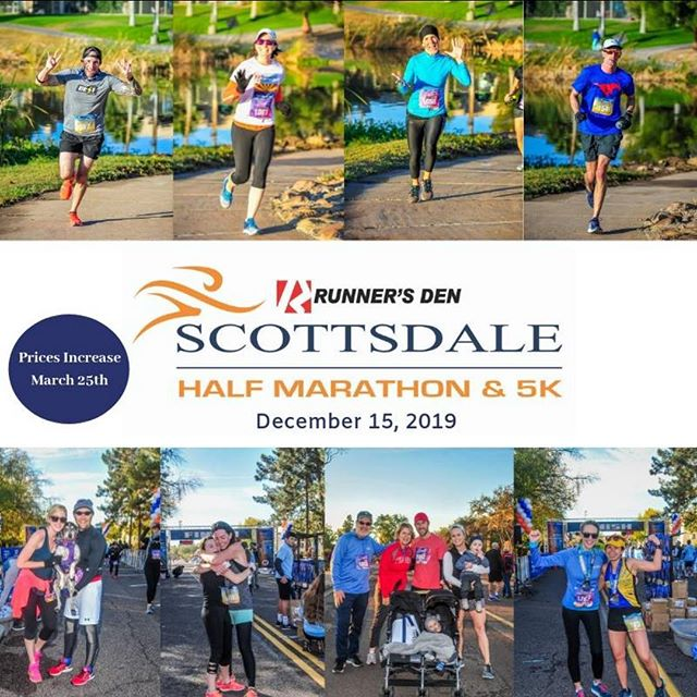 Beautiful weather. Flat course. Tons of post-race fun! Don't miss out on the lowest prices for the #Scottsdalehalf and the #Scottsdale5k. Prices increase on March 25th. #instarunners #runnersofinstagram #scottsdale #halfmarathon