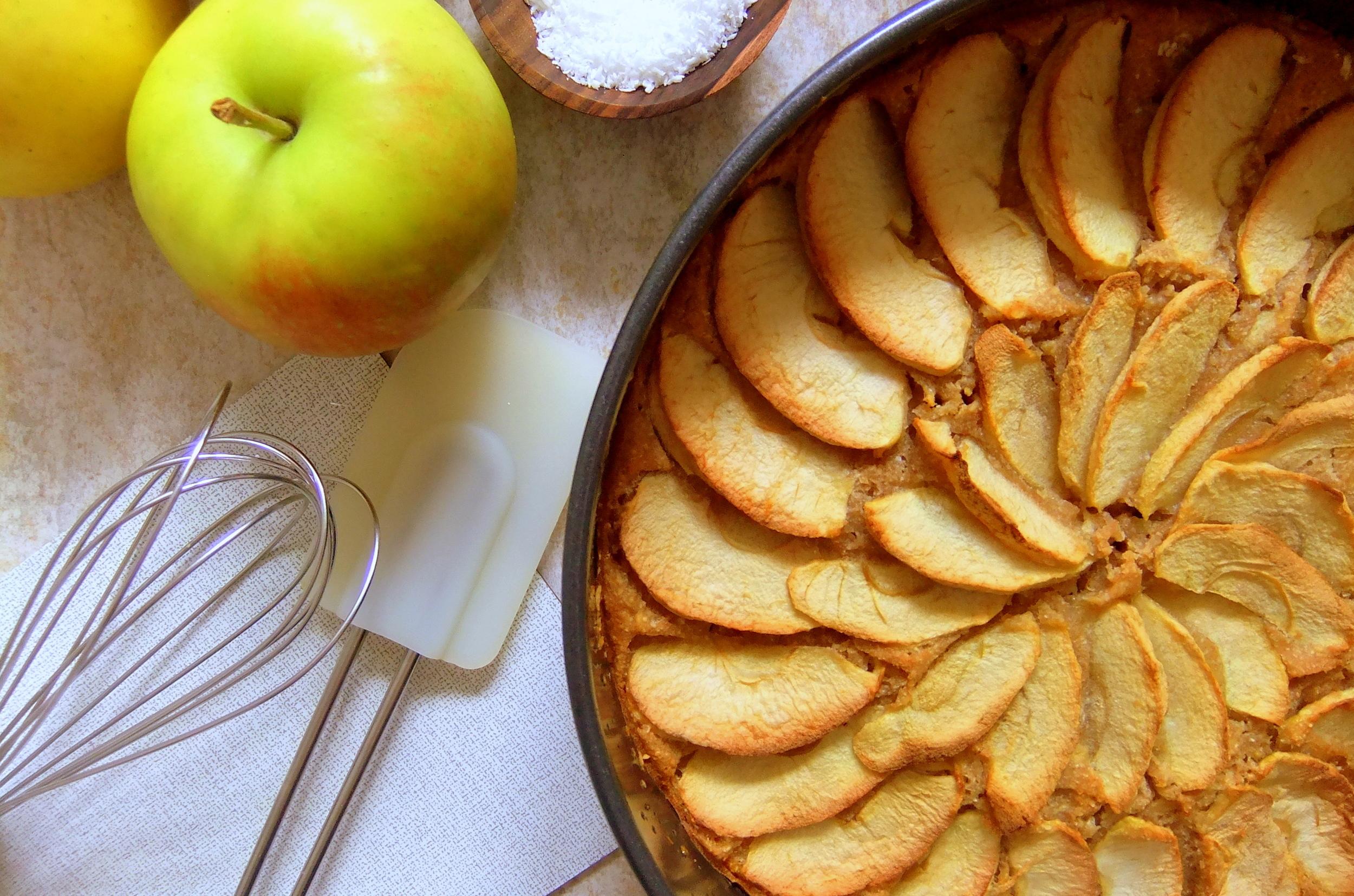 Apfel Kokos Kuchen Lenalicious