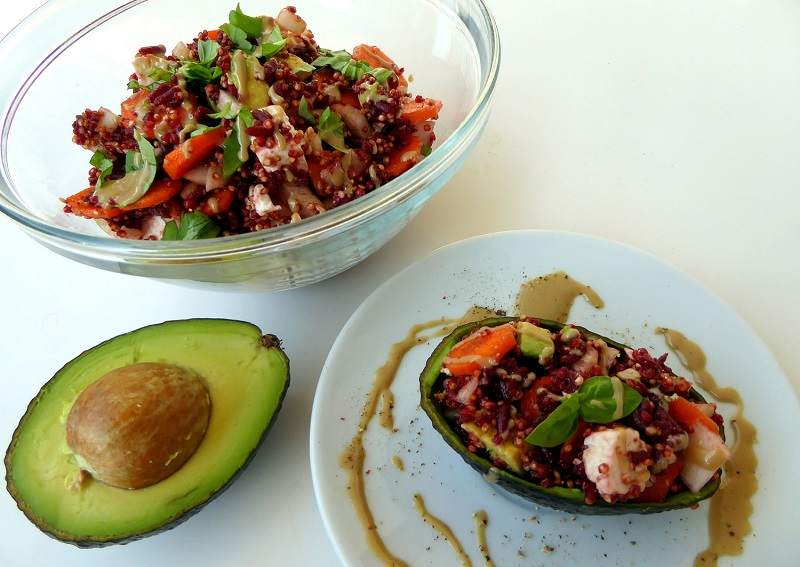 Roter Quinoa-Salat