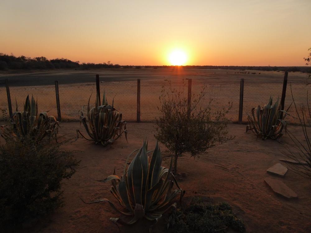 Sonnenuntergang auf der Farm in Hochberg