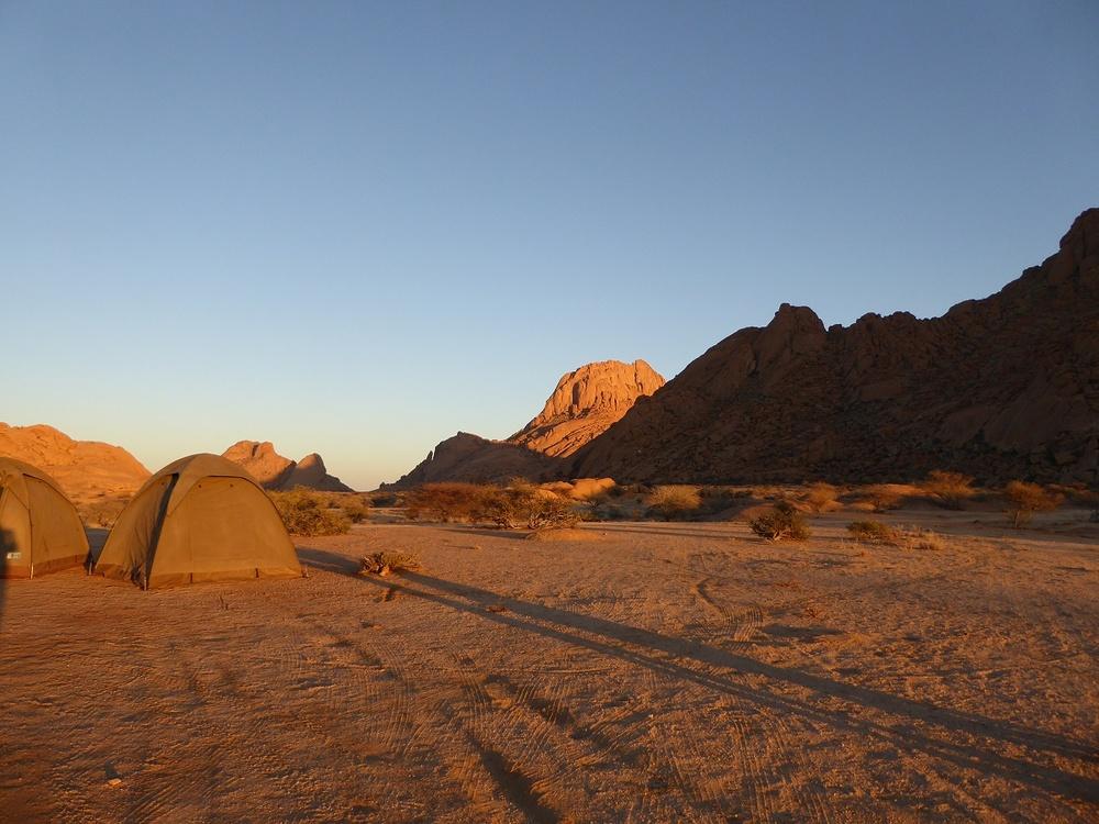Sonnenaufgang auf unserem Campingplatz