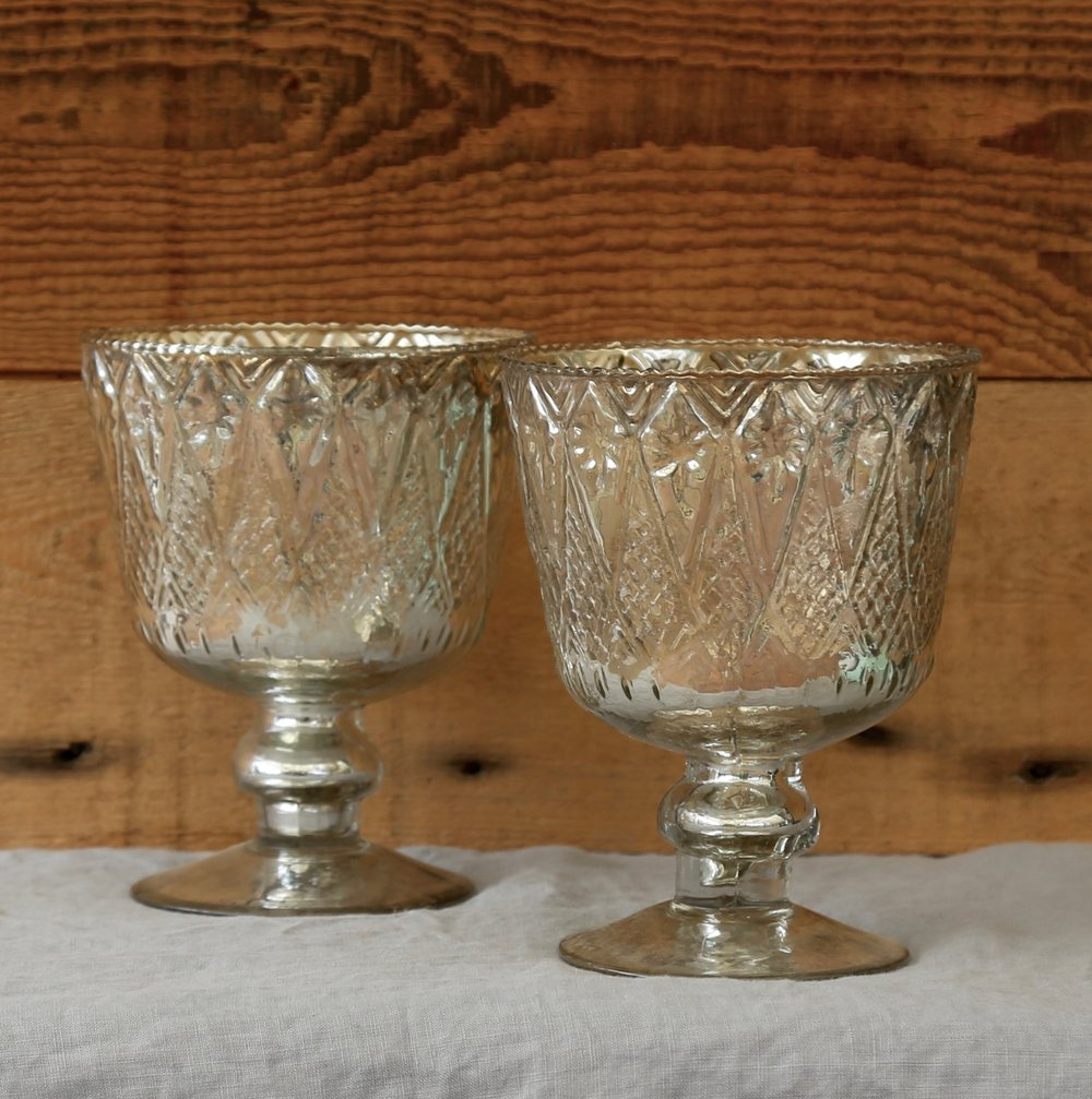 Silver Mercury Glass Chalice