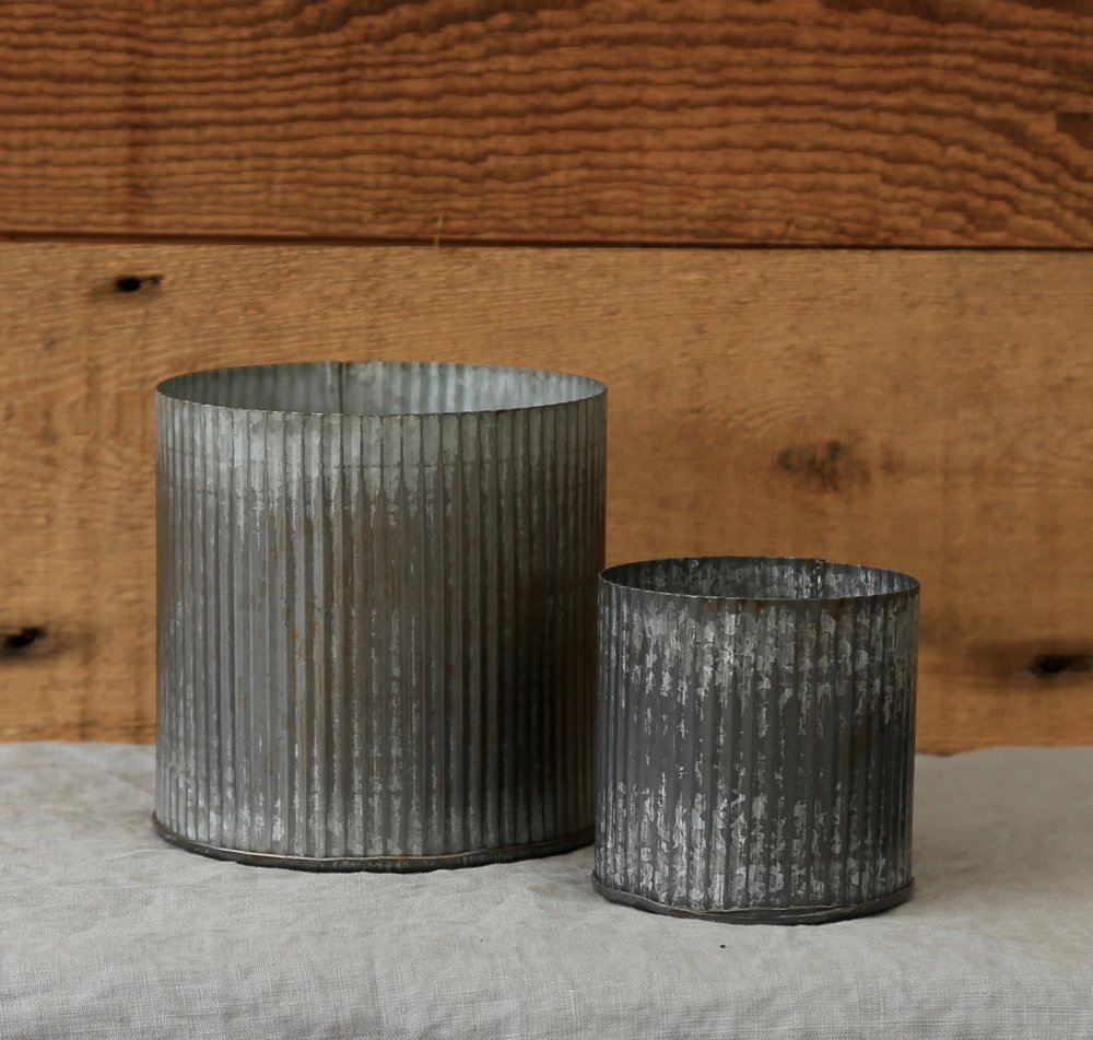 Metal Canister Votive & Pot