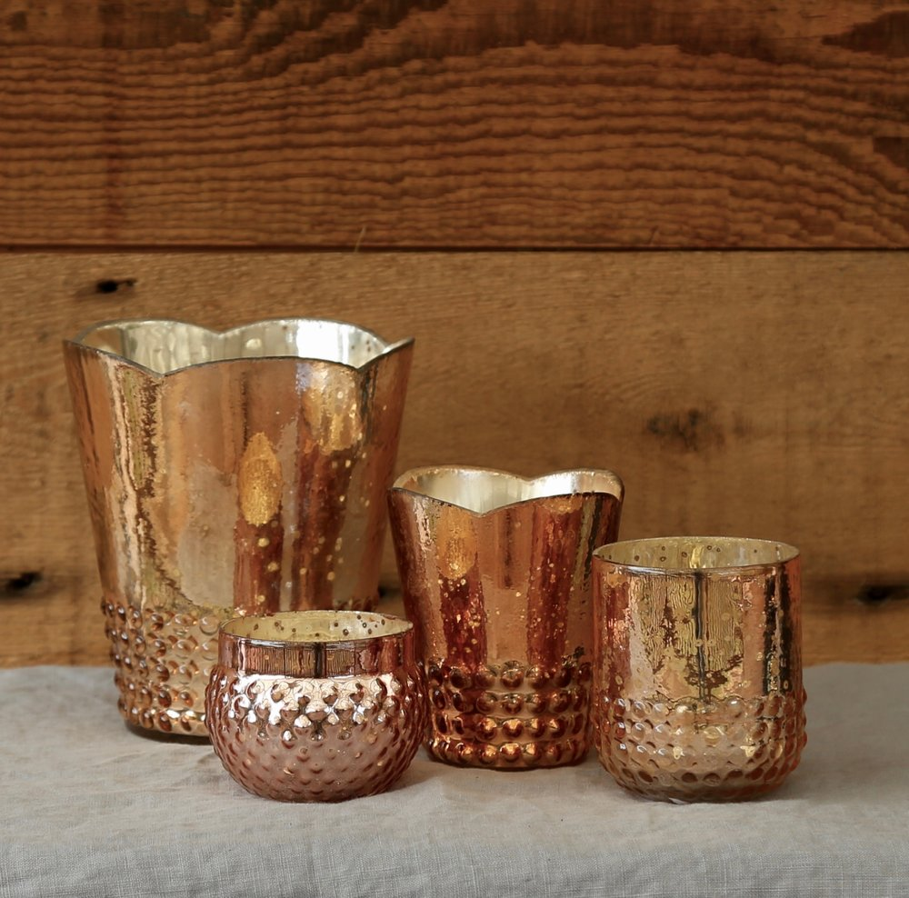 Rose Gold Mercury Glass collection