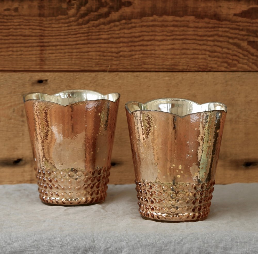 Rose Gold Large Votive