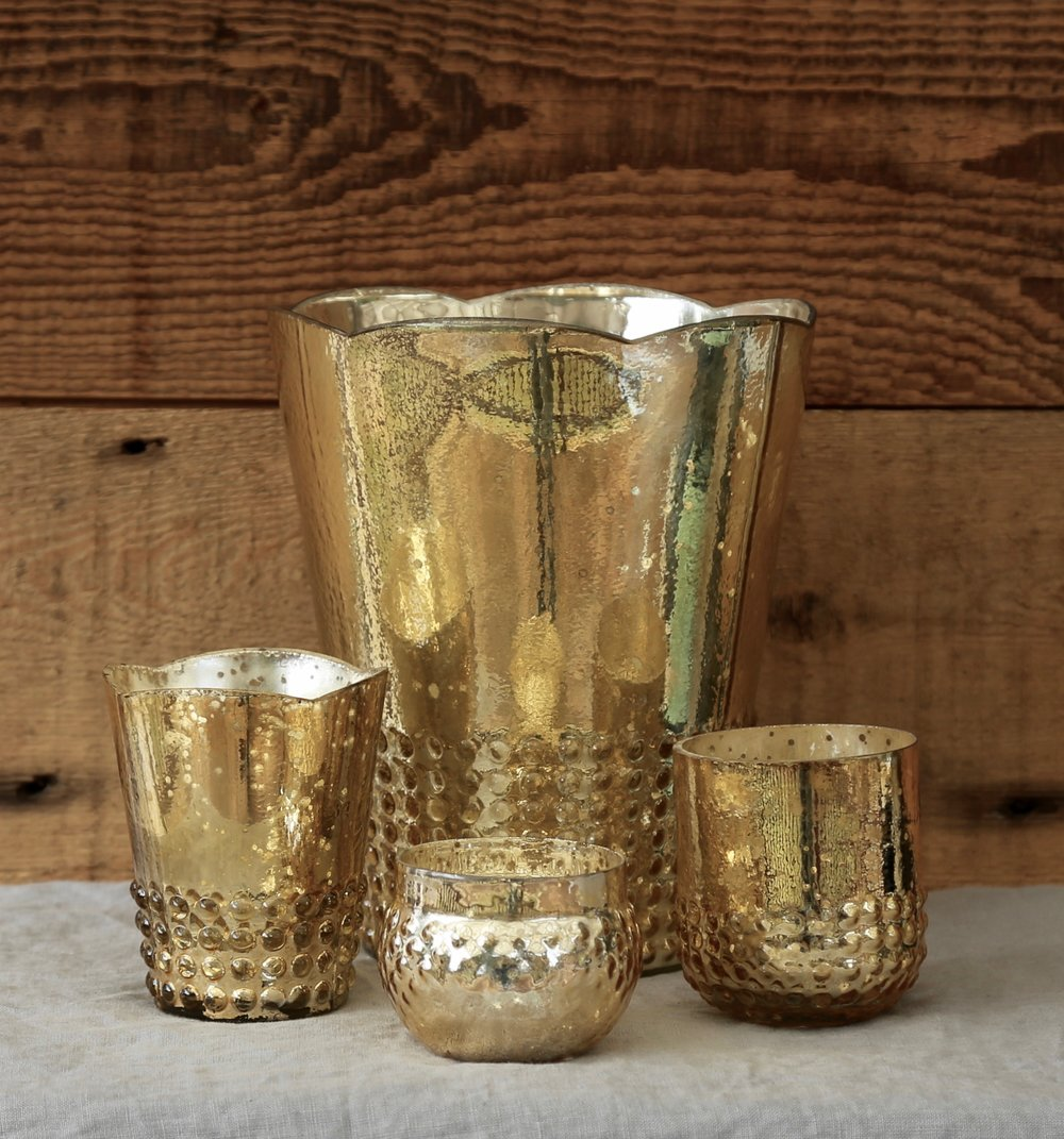 Gold Mercury Glass Collection