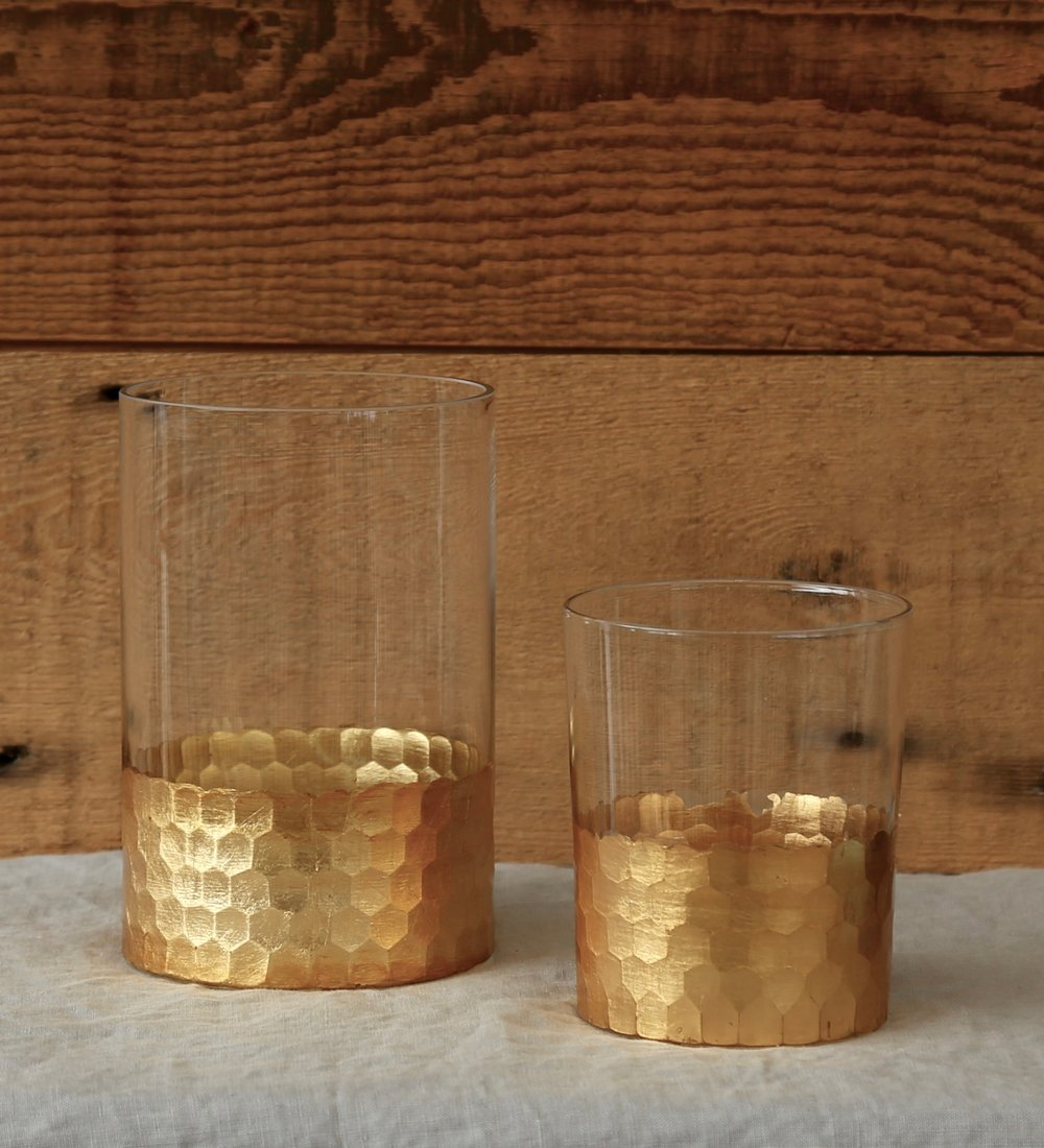 Gold Leaf Vases