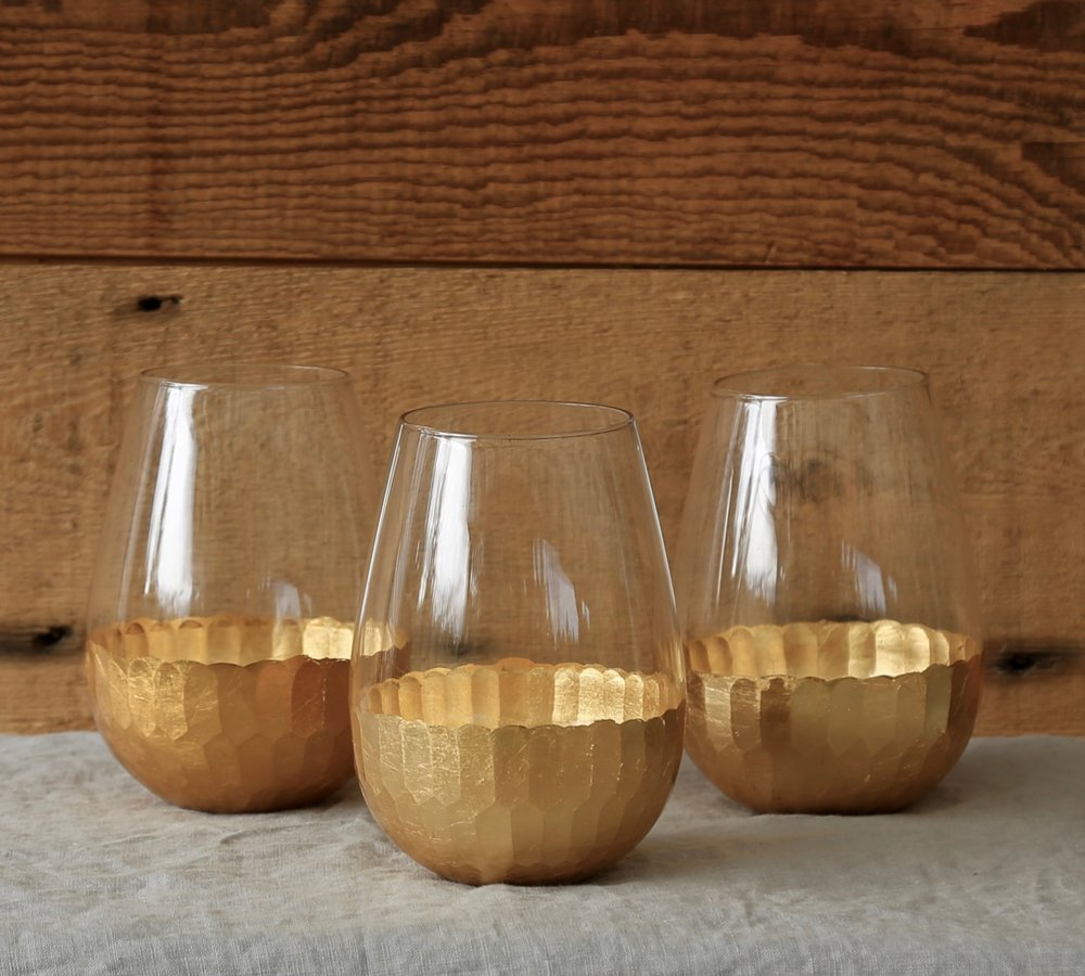Gold Leaf Glasses