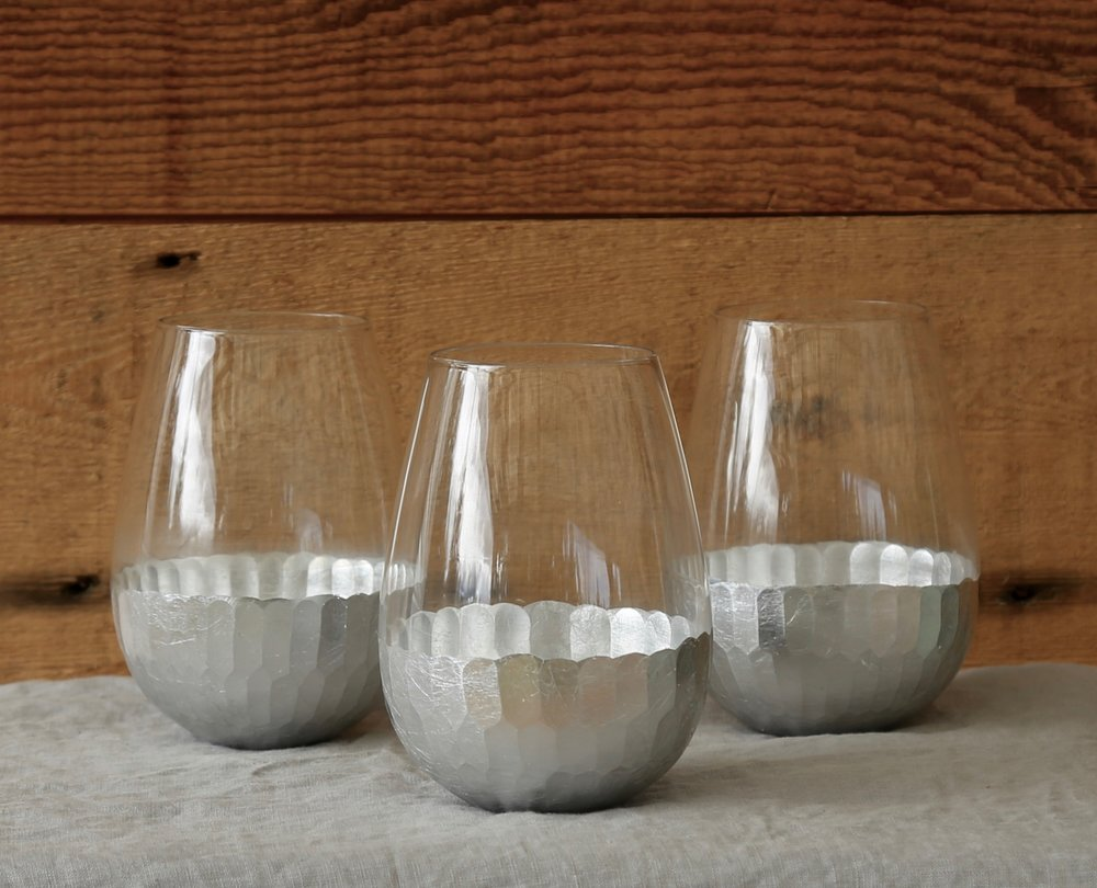 Silver Leaf Glasses