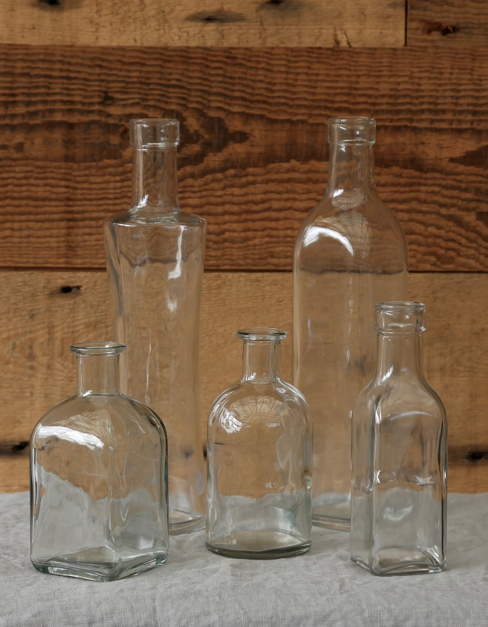 Vintage Clear Glass Bud Vases