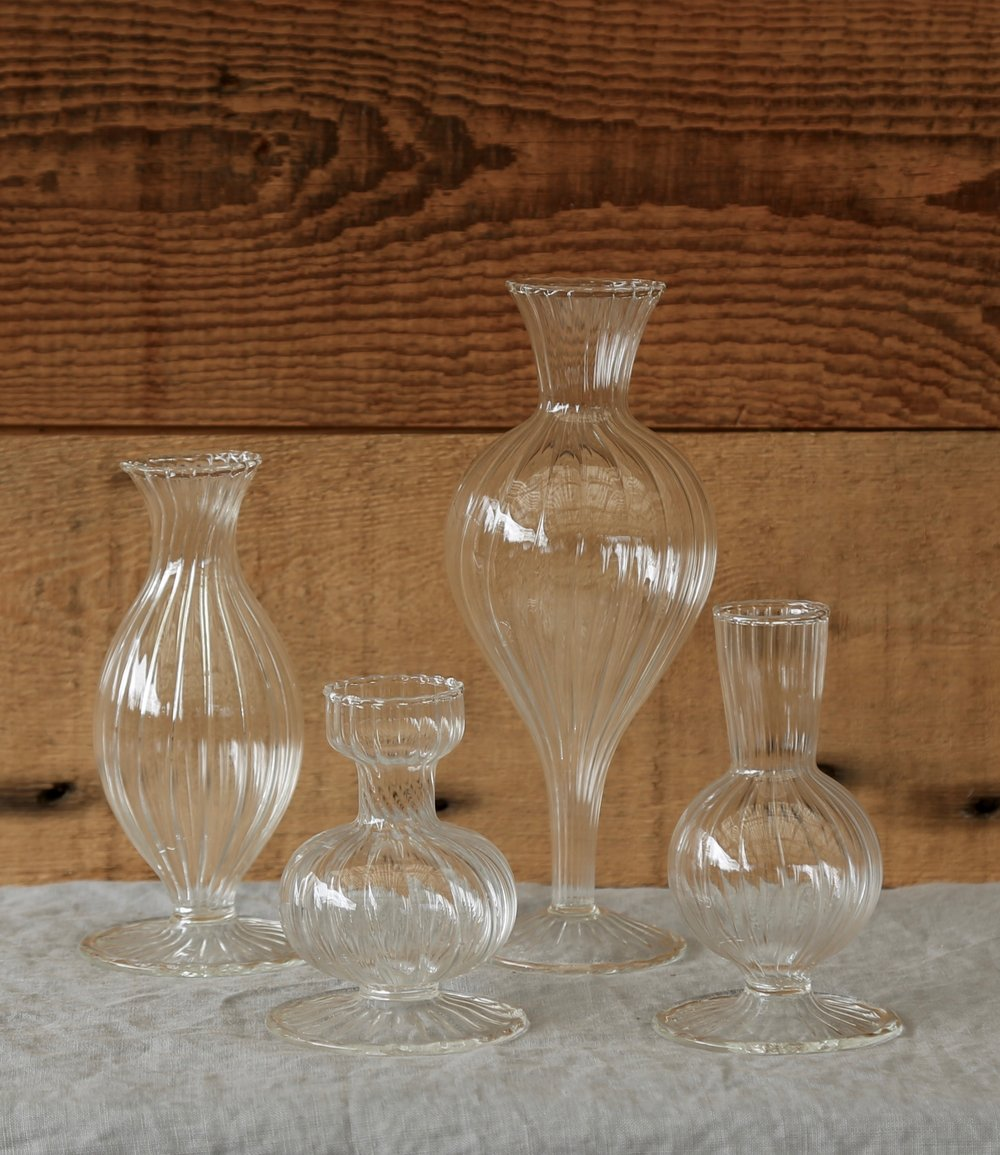 Clear Glass Boutique Bud Vases