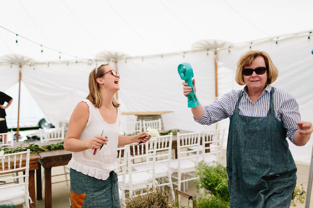 Lucinda tried her best to keep us all cool with her spritzer fan.