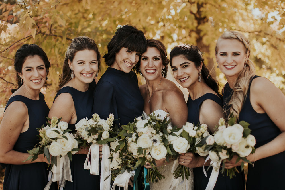 """The best team a bride can ask for! Thank you all for making our wedding spectacular!!"" - Madison 9/10/17  photography:  Victoria Carlson Photography   planning & coordination:  AE Creative   venue:  Ranch at the Canyons   videography:  Troy Costa Films   rentals & tent:  O'Brien Events    calligraphy:  My Fair Letters   hair:  Desert Rose Bridal Styling   makeup:   Stephanie Jayne Makeup Artistry   catering:  Back to the Tables   drinks:  The Swig Rig   cake & desserts:  Foxtail Bakeshop"